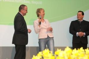 März 2013 Filderhalle: Moderation Andrea Müller beim Verband für Garten-und Landschaftsbau Baden-Württemberg