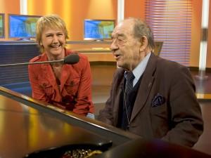 Moderation Landesschau live Andrea Müller mit Paul Kuhn