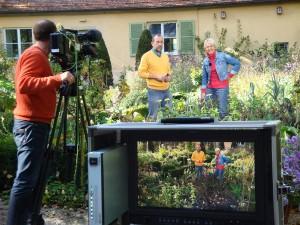 grünzeug-Dreh Andrea Müller und Volker Kugel im Bauerngarten im Blühendes Barock Ludwigsburg
