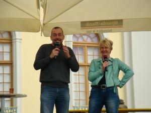 Bühnenmoderation Andrea Müller Grünzeug-Team, Barocke Gartentage Blühendes Barock Ludwigsburg, April/Mai 2013