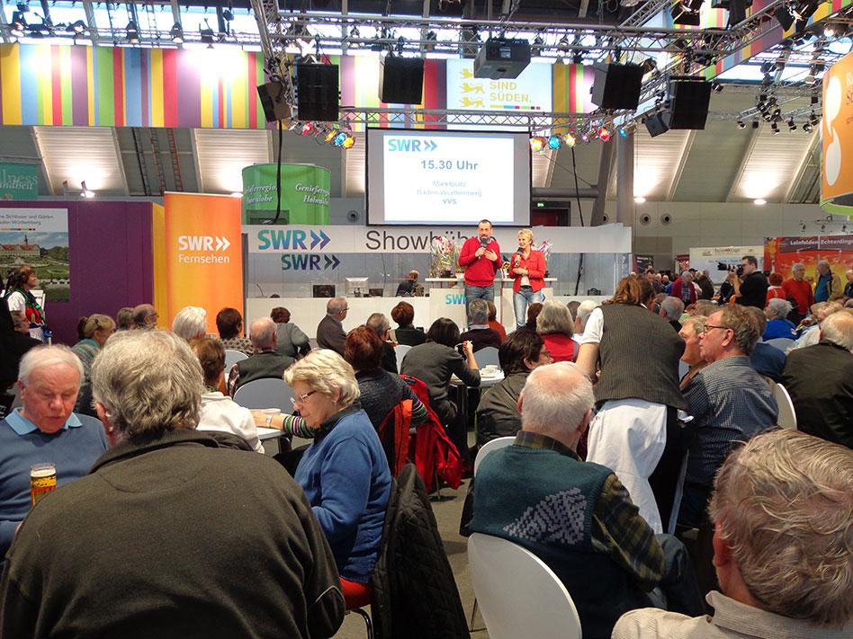 grünzeug-Präsentation Andrea Mueller und Volker Kugel auf der CMT im Stuttgarter Messegelände, Januar 2014