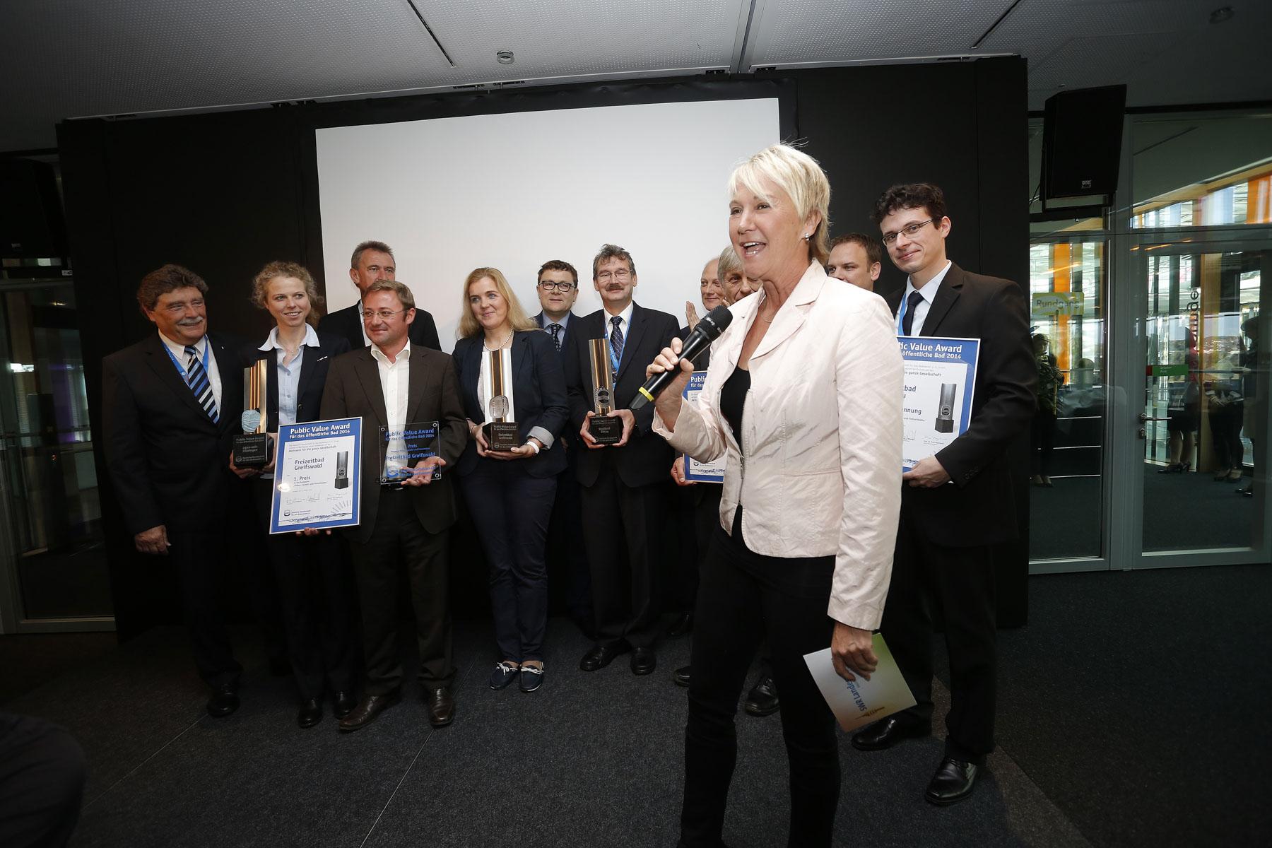 Moderation der Preisverleihung ´Public Award´ bei der ´Interbad 2014´, Messe Stuttgart im Oktober 2014
