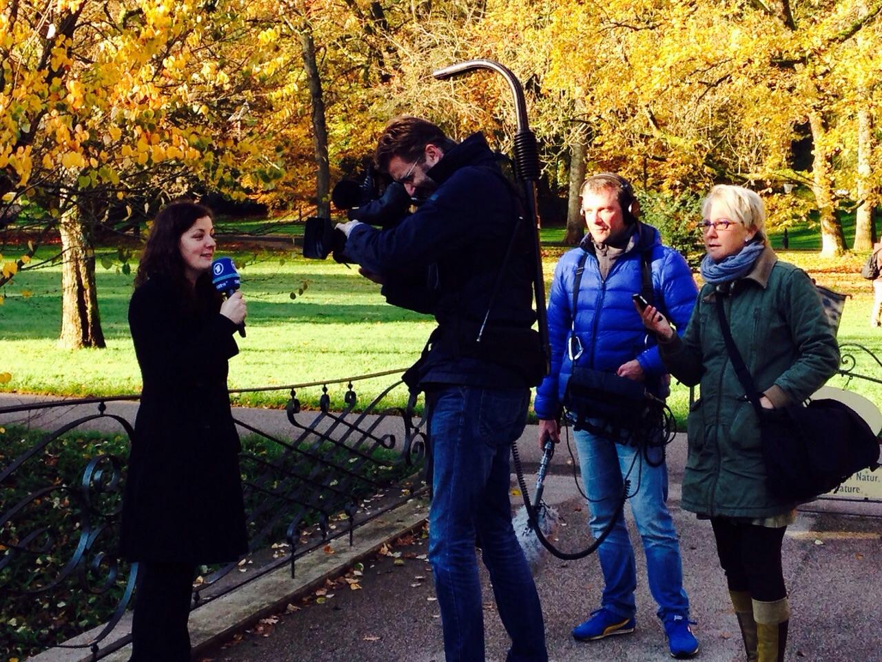 Andrea Mueller Trainerin für die SWR-Volontäre beim Fernsehkurs, Baden-Baden im November 2014