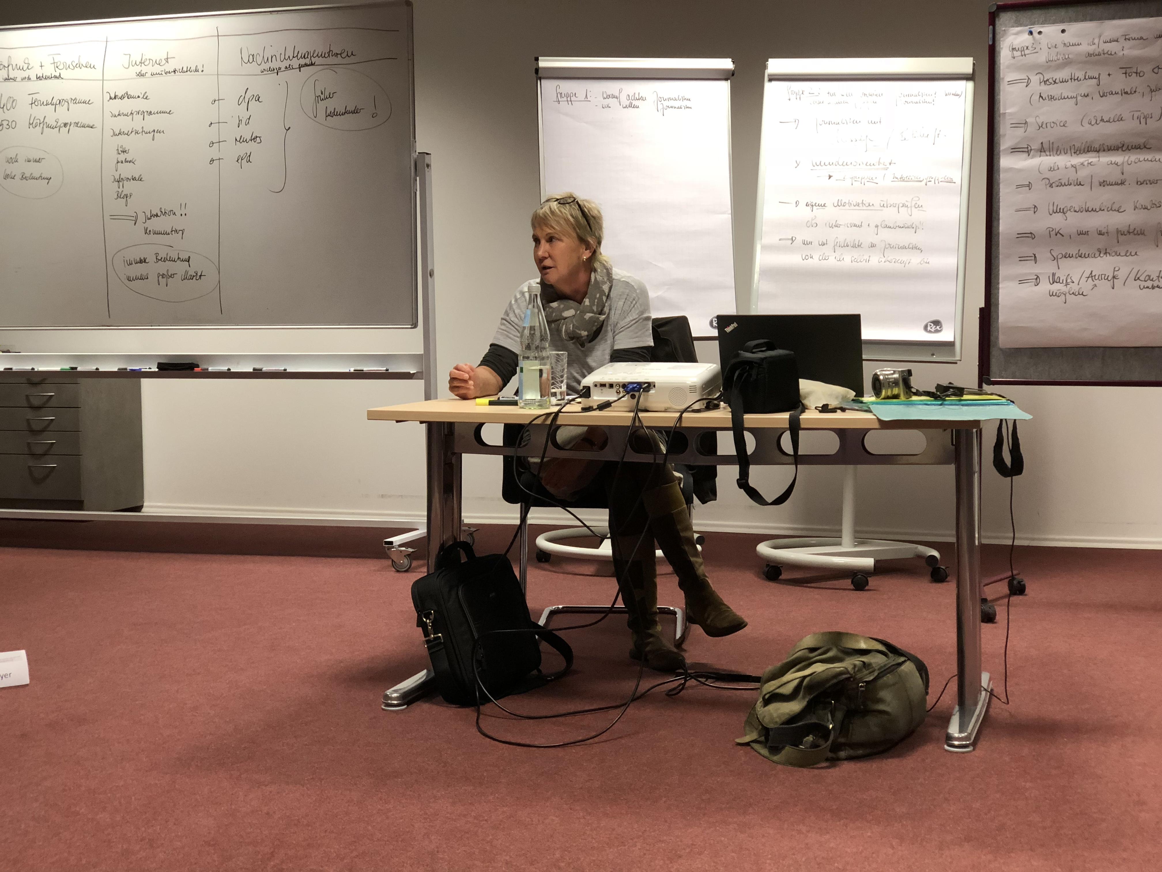 Medientraining an der Business School Alb-Schwarzwald in Rottweil, November 2017