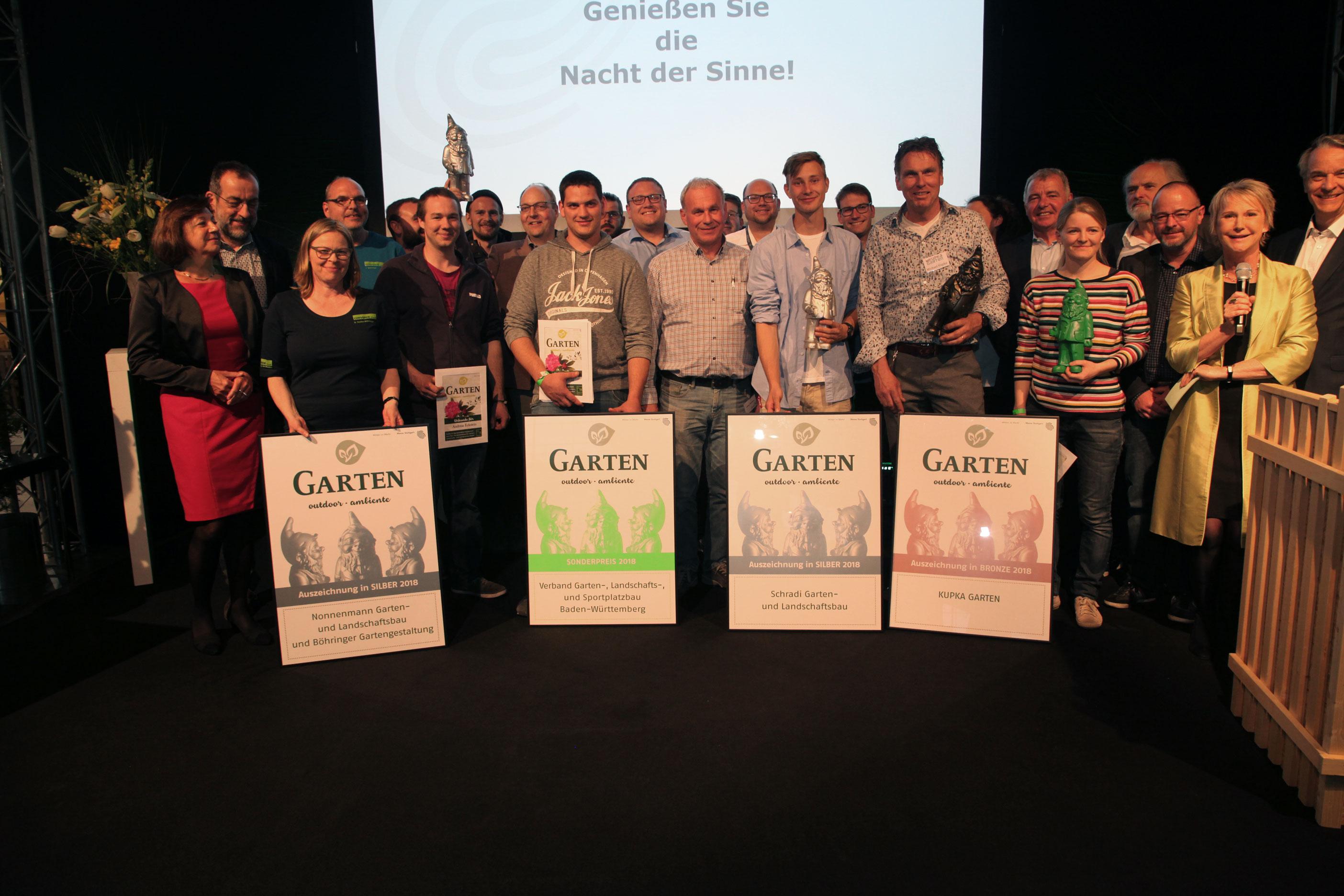 Moderation der Gartenpreisverleihung 2018  bei der 'garten-outdoor-ambiente', Messe Stuttgart, April 2018